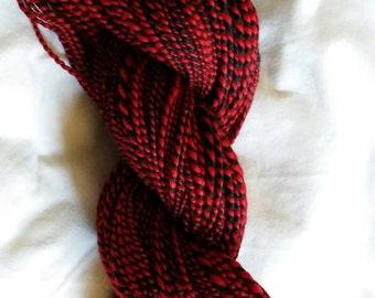 Handspun yarn: Red Moon