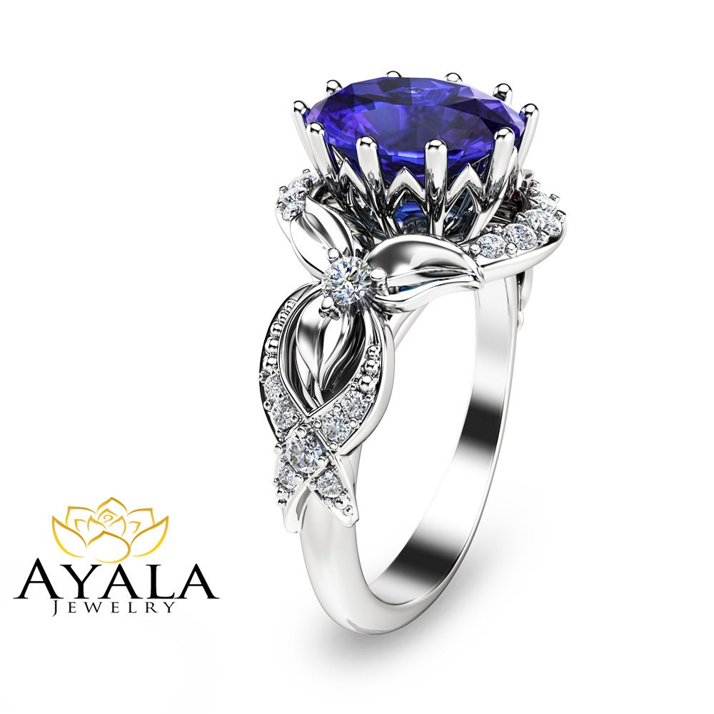 Tanzanite Ring-White Gold Tanzanite Engagement by ...