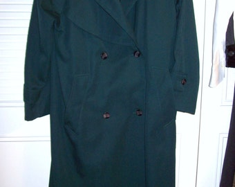 VintageJ Gallery Maxi Trenchcoat Fleece Lining All Features  Size 6 See Details