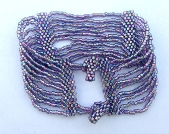 Shiny Purple Ten Strand Bracelet