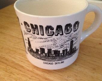 Vintage Chicago Skyline Coffee Mug