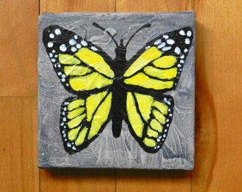 Yellow Butterfly - small decorative table