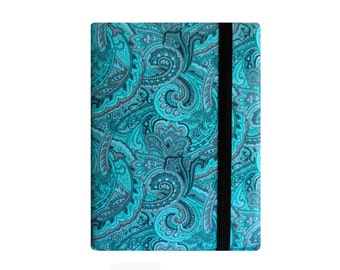 Kindle Paperwhite Cover, Paperwhite Case, Kindle Cover Hardcover, Kindle Oasis Book, Kindle Fire HD Case, Nook Glowlight, Turquoise Paisley