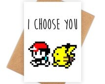 I Choose You - funny happy birthday card, meme greeting card, pop culture bday card 6P047A