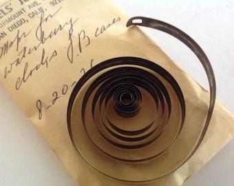 Antique mainspring part for Waterbury clock  making repair NOS