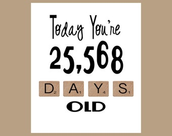 70th Birthday Card, The Big 70, Age Card, 70 Birthday, 70 Card, 70th, Milestone Birthday, 1947 Birthday Card, Funny Birthday Card