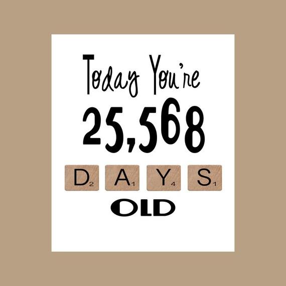 70th Birthday Card The Big 70 Age Card 70 Birthday 70 – 70 Birthday Cards
