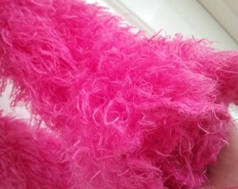 Ultra Fuzzy Hot Pink Scarf