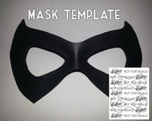 Unique arkham city related items etsy for Harley quinn mask template