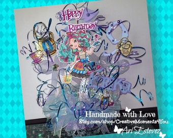 Madeline Hatter Birthday Cake topper
