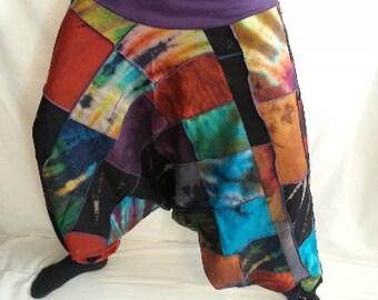 Harem Patch Pants - Cyber Tye Dye