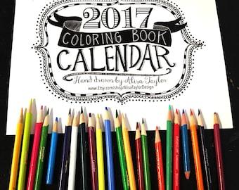 2017 Bible Verse Calendar - Desk Calendar - Christian Gifts - Calendar 2017 - Bible Verse Prints - verses to color - coloring book