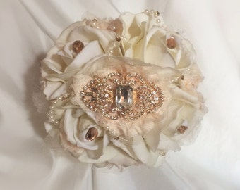 Bridesmaid Bouquet, Brooch Bridesmaid Bouquet, Brooch Bouquet, Can be made in your custom color