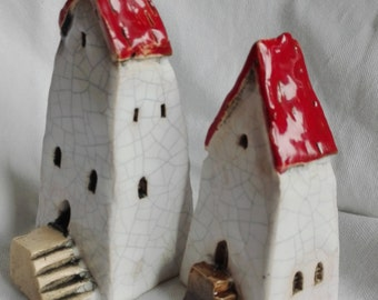Old Town house Little house Tiny house  Miniature ceramic house Home Décor Christmas decor