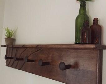 Rustic Industrial Coat Rack