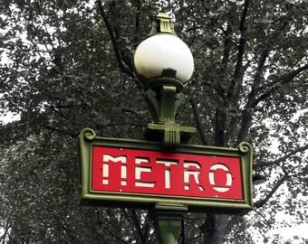 """Metro, Paris, France.  """"It's a Sign!: 5"""" x 7"""""""