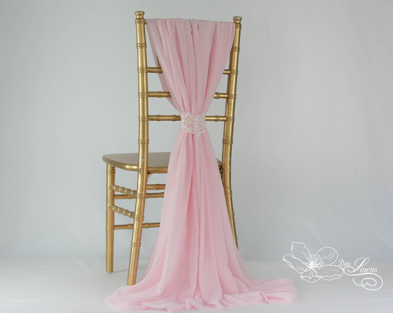 new chiffon chair cover sash pale pink wedding chair decor