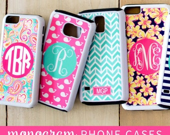 Personalized Cell Phone Case * 23 Color & Pattern Choices * Cell Phone Cover with Monogram * IPhone or Samsung Galaxy Case