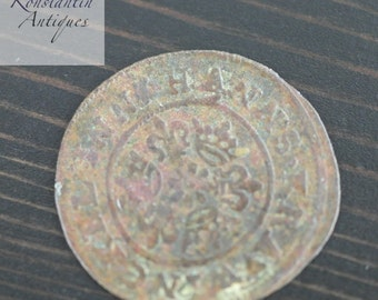Antique 1586 Hans Krauwincel II Rose orb Jeton coin great Germany Prussia gift