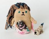 Pattern for Petula, Keeper of the Pets Knitting Pattern