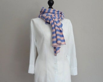 Large scarf / shawl / scarf in finest merino wool in cornflower pink