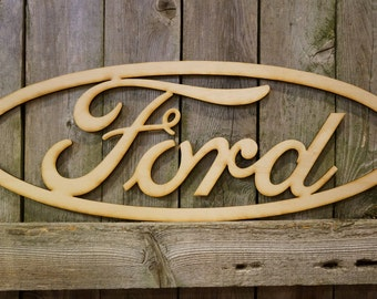 Ford logo wall hanging sign