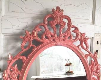 shabby chic mirror hot pink girls room ornate