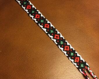 Christmas Inspired Friendship Bracelet