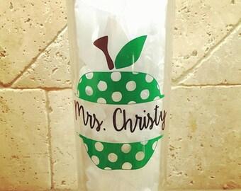 Teacher skinny tumbler - Perfect teacher gift!!