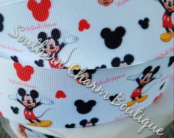 "3 yards of 1 1/2"" grosgrain mickey mouse ribbon"