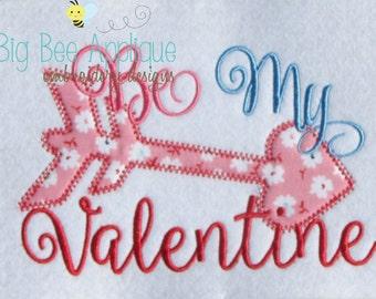 Valentine Applique Embroidery Design