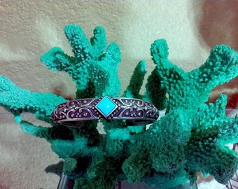 Ava Yetter Sterling Silver Turquoise Cuff Bracelet 925 Southwestern  Ava Sterling Silver Turquoise Cuff Bracelet