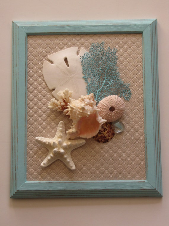 Seashell wall decor seashell wall art beach decor shell wall