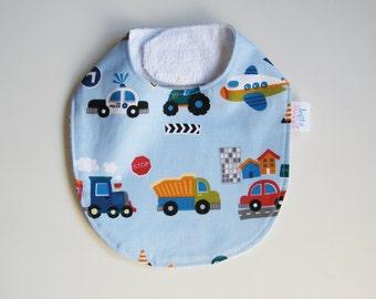 Baby bib   newborn   baby boy   bib   cars