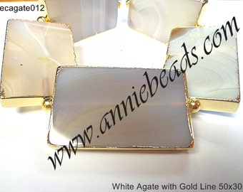 Beautiful White Lace Agate with Gold Line.!!!!!!!!!