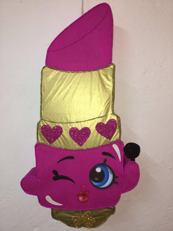 Shopkins Lipstick Pinata Inspired Shopkins Birthday Party