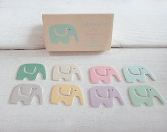 Paper Index Clip / Bookmark - Elephant-petit-pink-mint