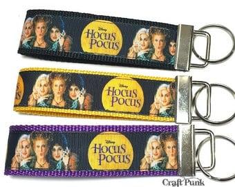 Hocus Pocus, Sanderson Sisters, Keychain Wristlet, Cult Classic, Keychain, Halloween, Horror Keychain, Goth