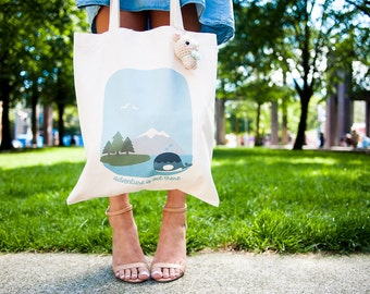 Momomints City and Nature Canvas Cute Tote Bag