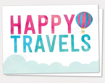 Happy Travels Greeting Card