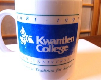 Kwantlen College Tenth Aniversary Mug / Cup 1981/1991
