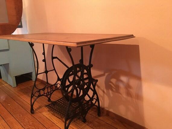 antique sewing machine desks