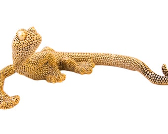 Electro Gold Plated Lizard Tabletop Decoration Style ii00214
