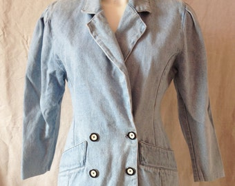 Jacket / Blazer, vintage, light blue jeans, T 38.