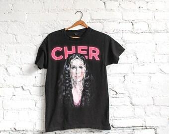 Cher Concert T Shirt // Cher Concert Tee // Cher Tour Tee // Cher Tshirt // Cher T