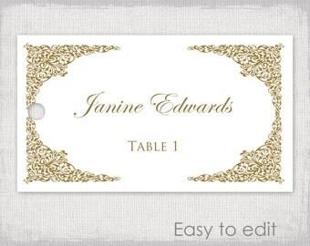 wedding name tag template