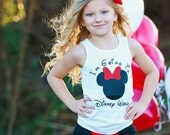 I'm Going To Disney Shirt - Vacation -Disney Cruise - Surprise -Girls Top GLITTER - SHIRT ONLY