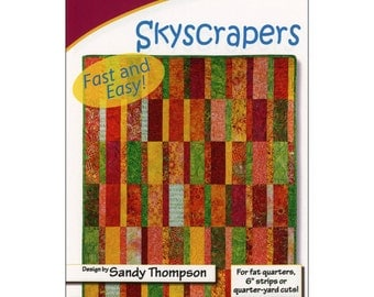 Pattern - Skyscrapers Quilt Pattern by Cozy Quilt Designs (CQD01151) Paper Pattern