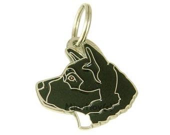 Personalised, stainless steel, breed pet tag, AKITA
