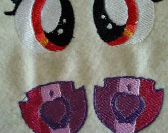 Embordered Pony Eyes